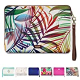 "Mac Book Air Case 13"" , ESR You-nique Series Cushion Sleeve Case with 2 Way Open End Zipper [Shock&Moisture-Proof][Scratch Resistant] [Exquisite stitching line] for MacBook Air 13 Inch (Rainbow Leaf)"