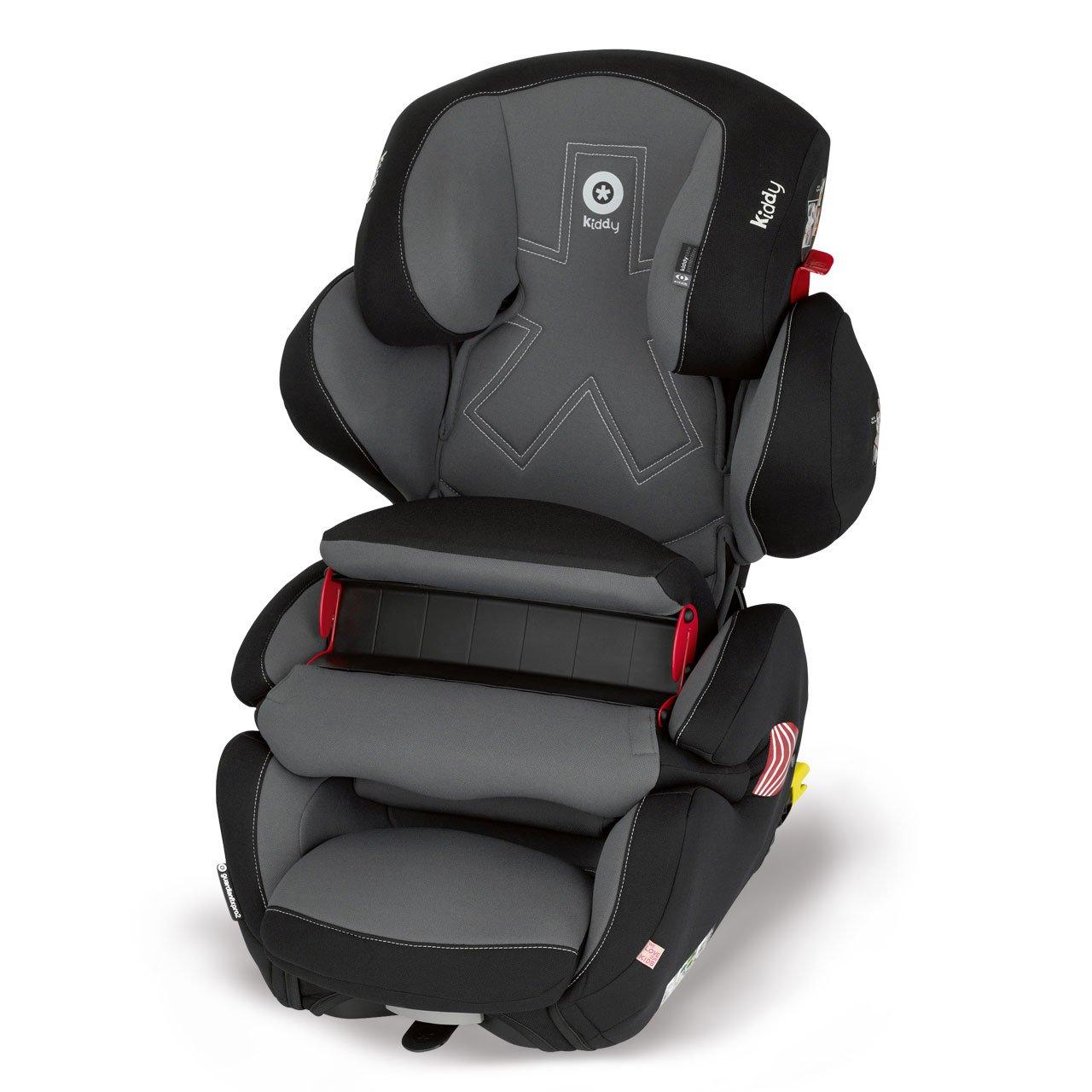 Kiddy 41551GF069 Guardianfix Pro 2 Autositz, Fangkörpersystem, ISOFIX, Gruppe 1/2/3 (9-36 kg, ca. 9 Monate-ca. 12 Jahre), Manhattan (schwarz) Fangkörpersystem