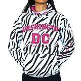 Washington DC Women's Zebra Print Non-Zip Hoodie