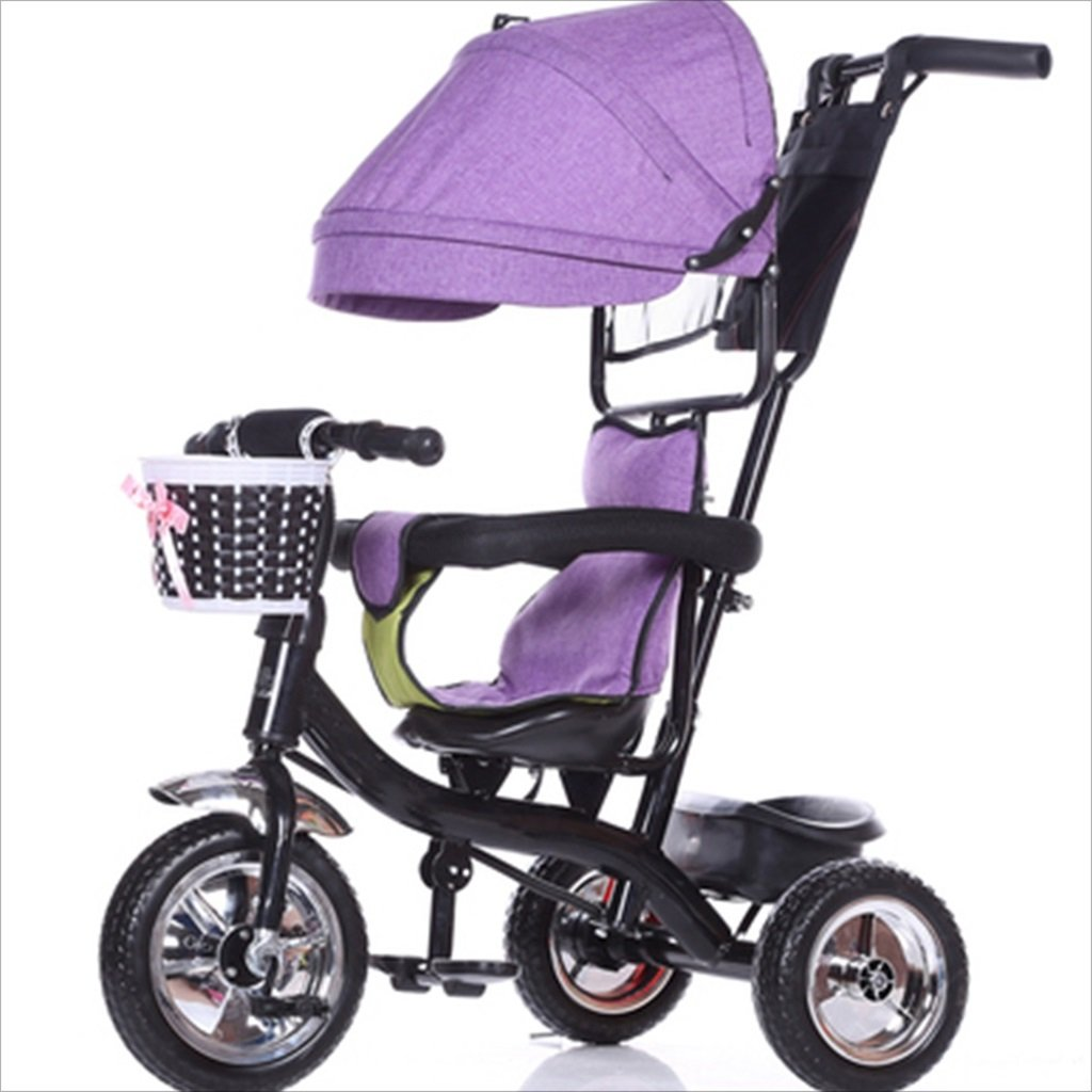 子供の屋内屋外の小さな三輪車自転車の男の子の自転車の自転車6ヶ月-6歳の赤ちゃん3つのホイールトロリー天井、固体プラスチックホイール (色 : 4) B07DVP1V2Z4