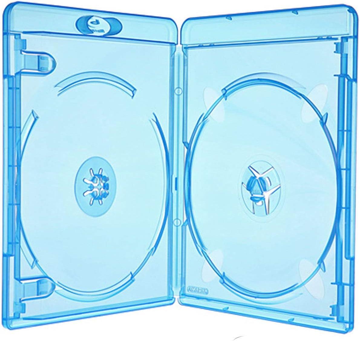 50 Amaray Blu Ray Hüllen 11 Mm Für 2 Dvd Bluray Cd Computer Zubehör