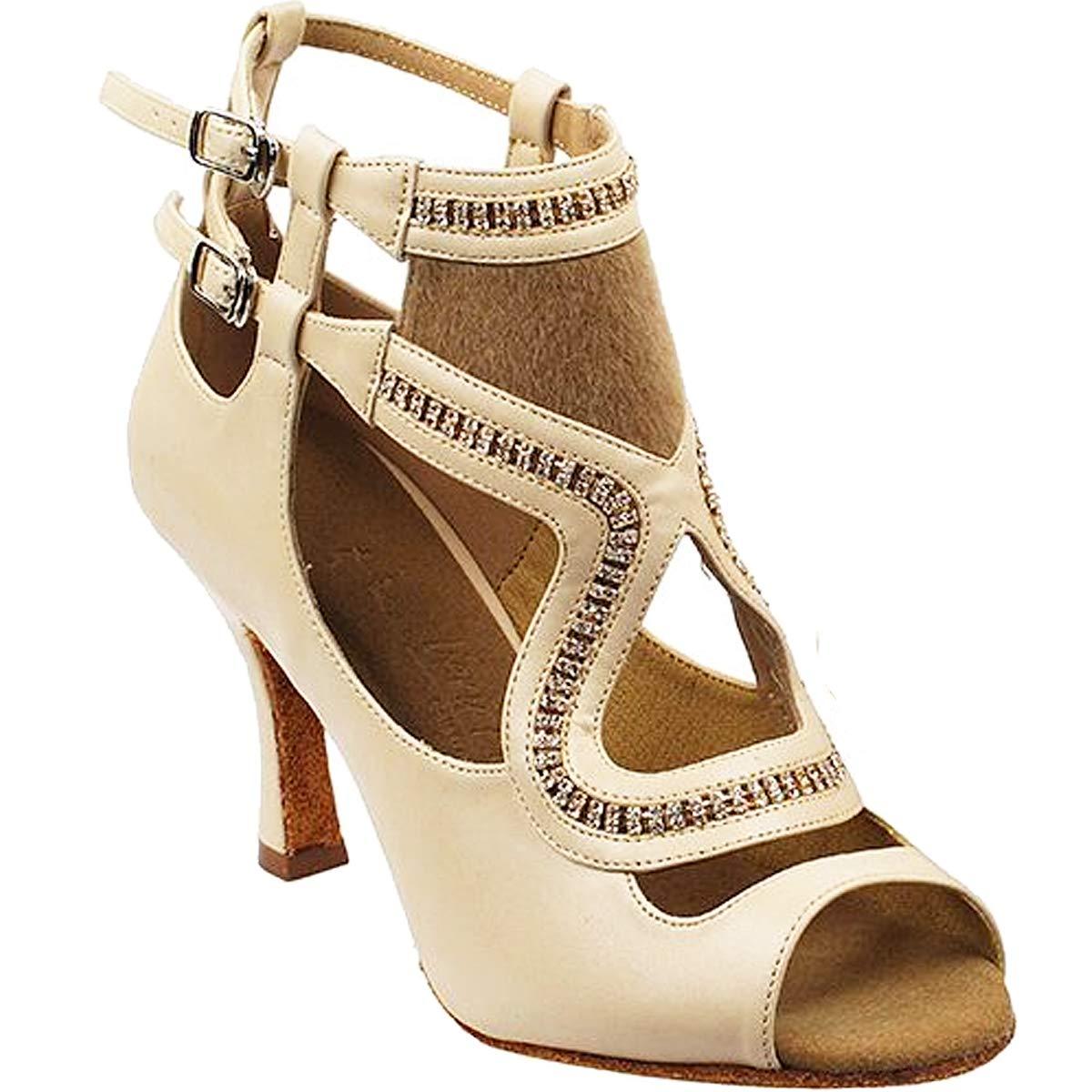 レディース社交ダンスシューズウェディングサルサタンゴ靴sera7018eb comfortable-very Fine 3