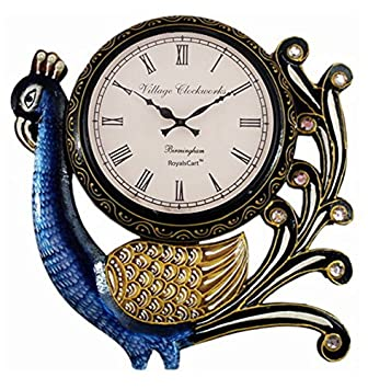Buy RoyalsCart Village Clockworks Peacock Analog Wall Clock Online
