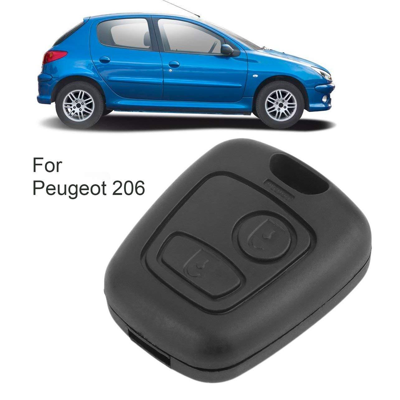 WOSOSYEYO Reemplazo Casa l/ámina sin Cortar la Llave del Coche Cubierta de protecci/ón Carcasa Clave para Peugeot 106 107 206 207 407 806 Funda Botones Mando