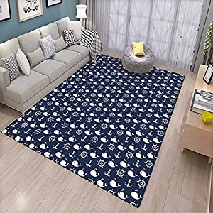 61AgfmZlBEL._SS300_ 200+ Nautical Rugs and Nautical Area Rugs