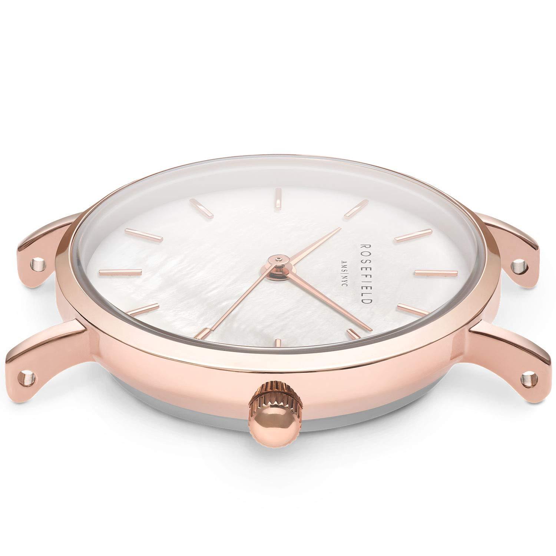 Rosefield Reloj Analógico para Mujer de Cuarzo con Correa en Metal 26WR-265: Amazon.es: Relojes