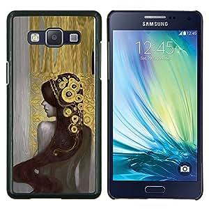 Eason Shop / Premium SLIM PC / Aliminium Casa Carcasa Funda Case Bandera Cover - Chica Bling Pintura tiara de la manera atractiva - For Samsung Galaxy A5 ( A5000 ) 2014 Version