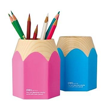 Eforcase Super Cute Pencil Top Design Pen Pencil Stand Holders Cup (Blue)