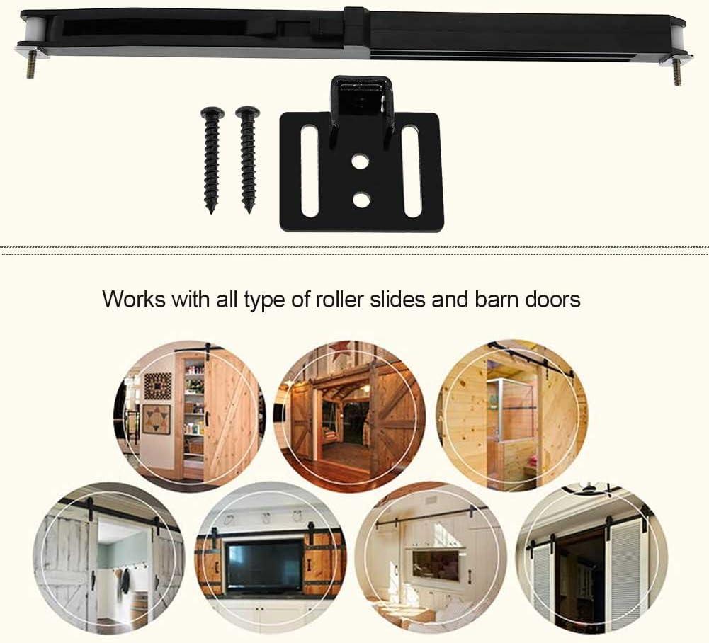 Door Slide Damper Soft Close Slides Mechanism Furniture Remission Accessory Sliding Rail Barn Wood Door Hardware Track Kit with Fixing Screws and Bracket