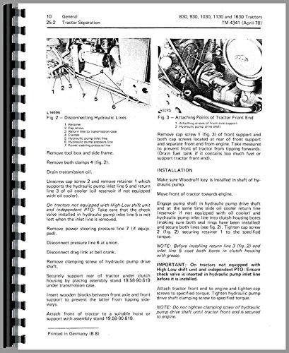 - Service Manual John Deere 830 German 3 cyl Diesel Tractor Technical tm4279