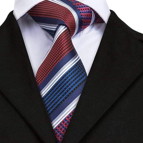WOXHY Corbata Dn-1695 Corbata 100% de Corbata de Seda Real ...