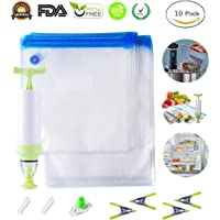 Automatic Food Vacuum Sealer Machine, Portable Vacuum Sealing System for Fresh Foods Storage, Food Preservation Saver and Sous Vide with Starter Kit 15 Bags