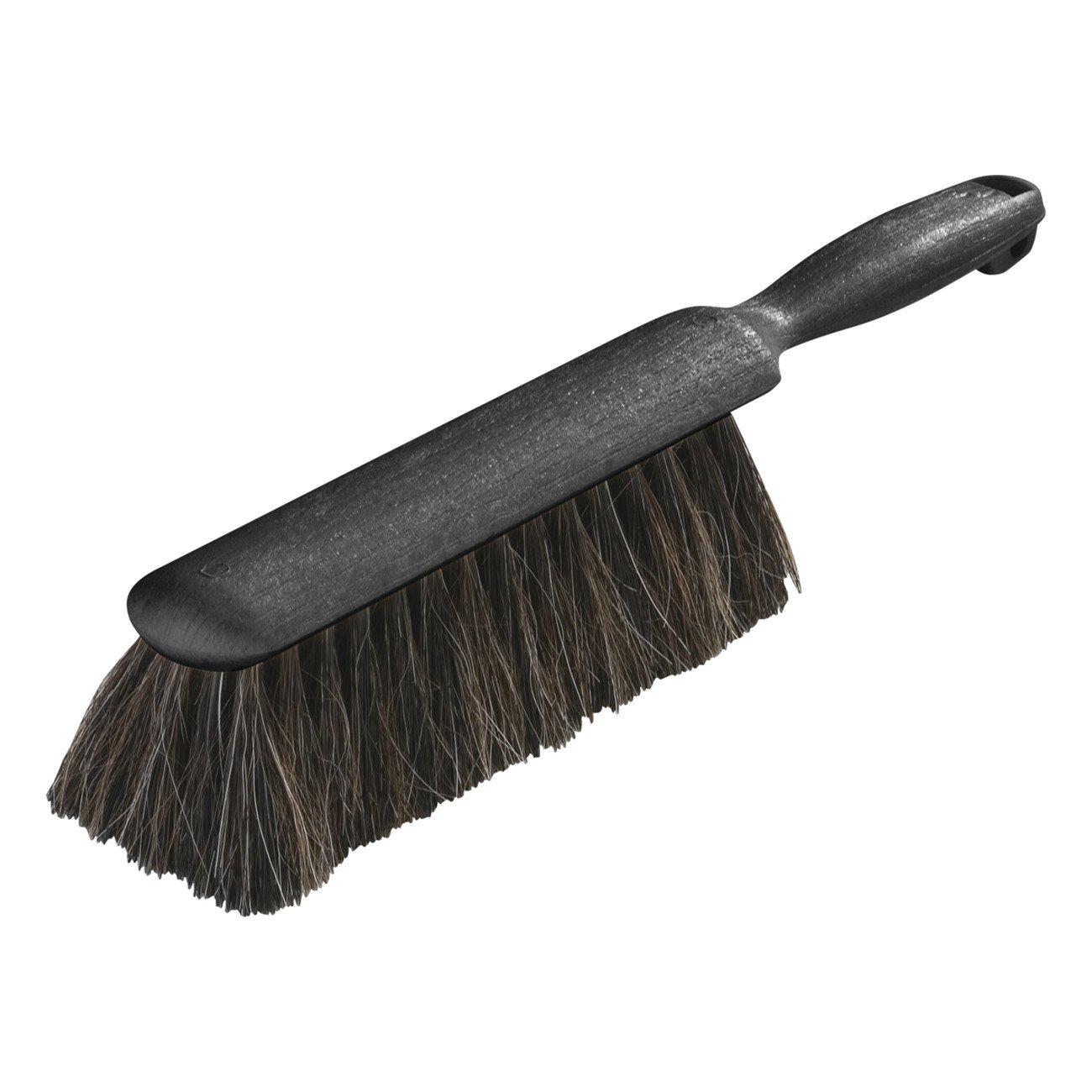 Carlisle 3622503 Flo-Pac Plastic Handle Counter Brush, Horsehair Blend Bristles, 2-1/2' Bristle Trim, 8' Length, Black 2-1/2 Bristle Trim 8 Length Carlisle Corporation
