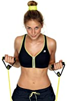 Shock Absorber Active Zipped Plunge Sports Bra 336002 32 B black