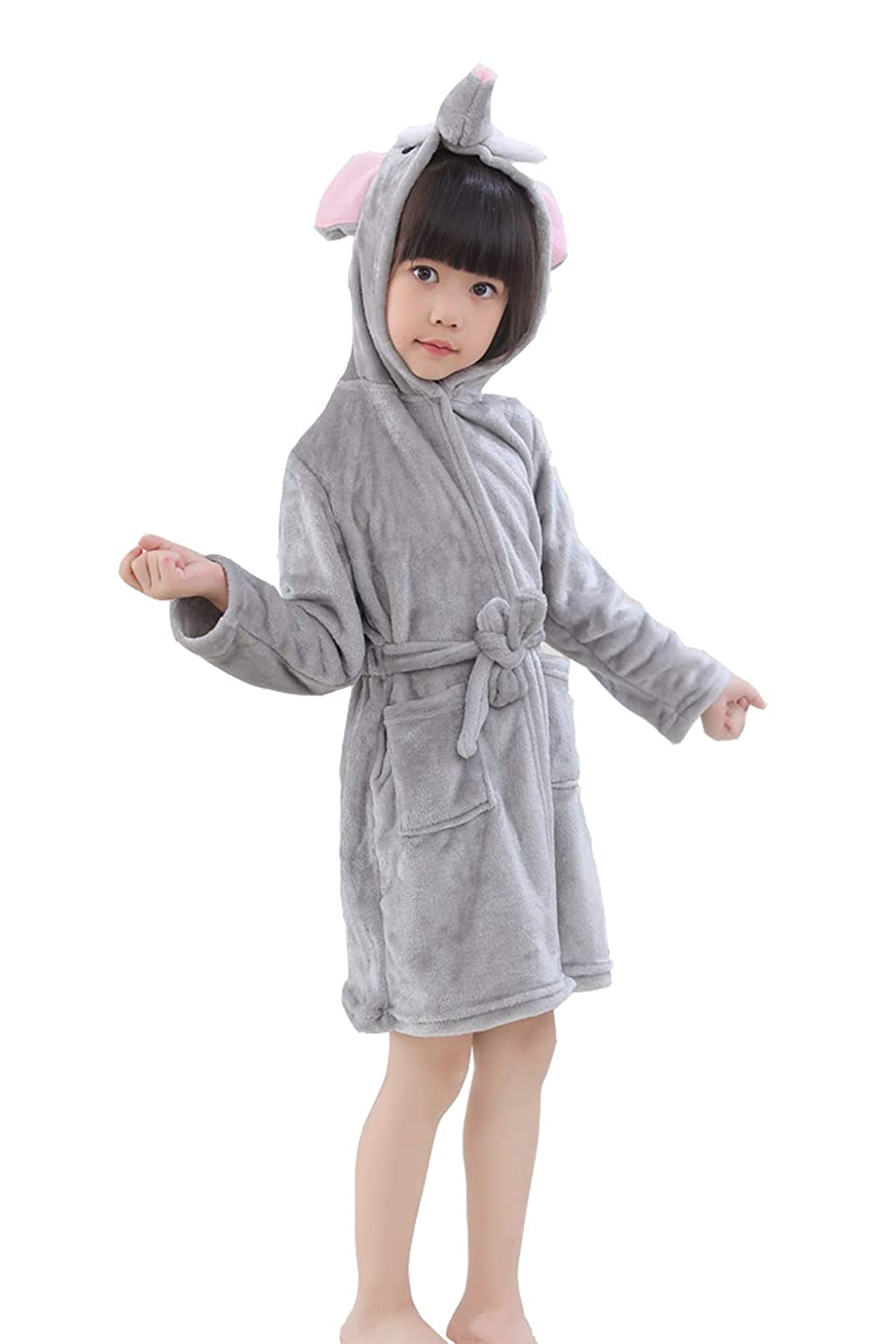 RGTOPONE Kids Soft Bathrobe Animal Fleece Sleepwear Comfortable Loungewear