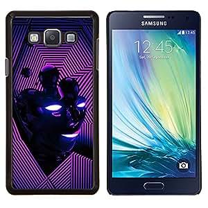 TECHCASE---Cubierta de la caja de protección para la piel dura ** Samsung Galaxy A7 ( A7000 ) ** --Cara abstracta rosada púrpura