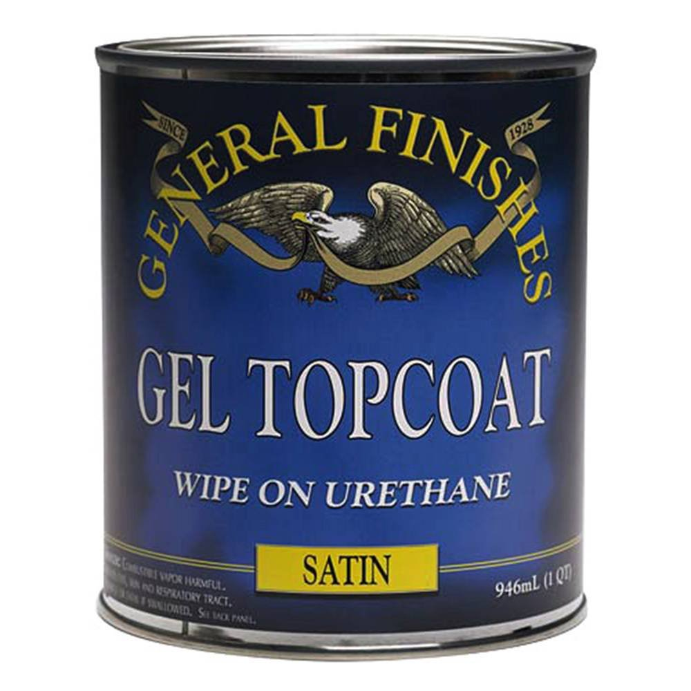 General Finishes ゲルステイン Quart GEL CLEAR SATIN-QT 1 B00ANLLRSA