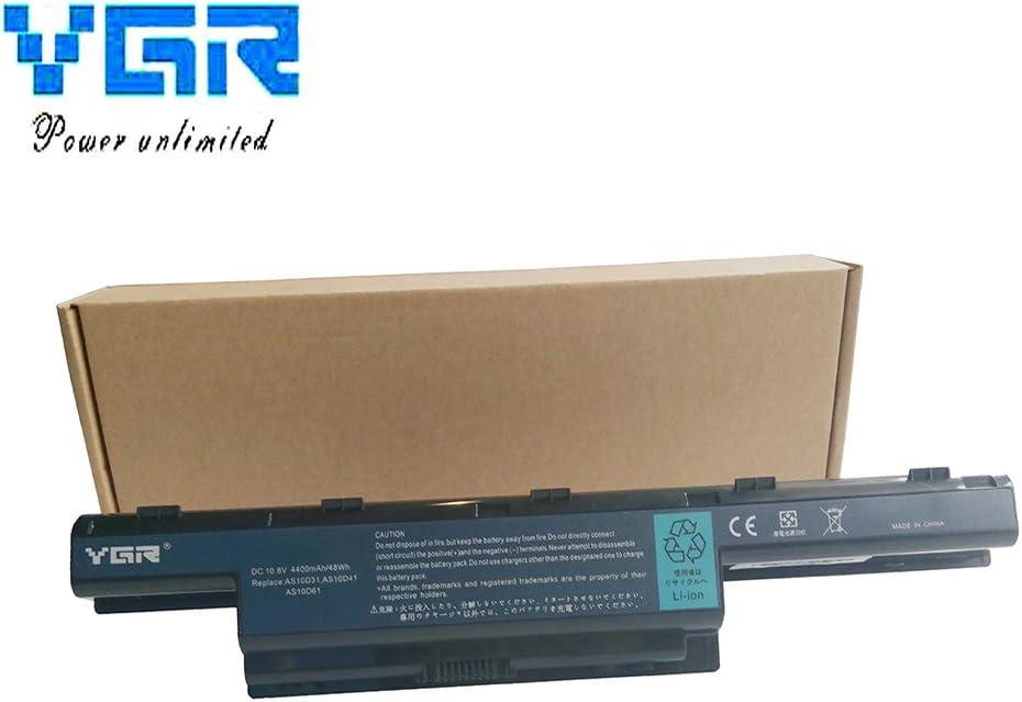 YGR Laptop Battery for Acer Aspire 4741 4752 4750G 4755g 4552g 5250 5733 5740 5750G 5755 4733Z 4738G 4739 4739ZG V3-551G E1-471G 5735z Gateway Nv47h27 Nv49c NV59c NV55S NV57H22 NE56R MS2347 MS2319