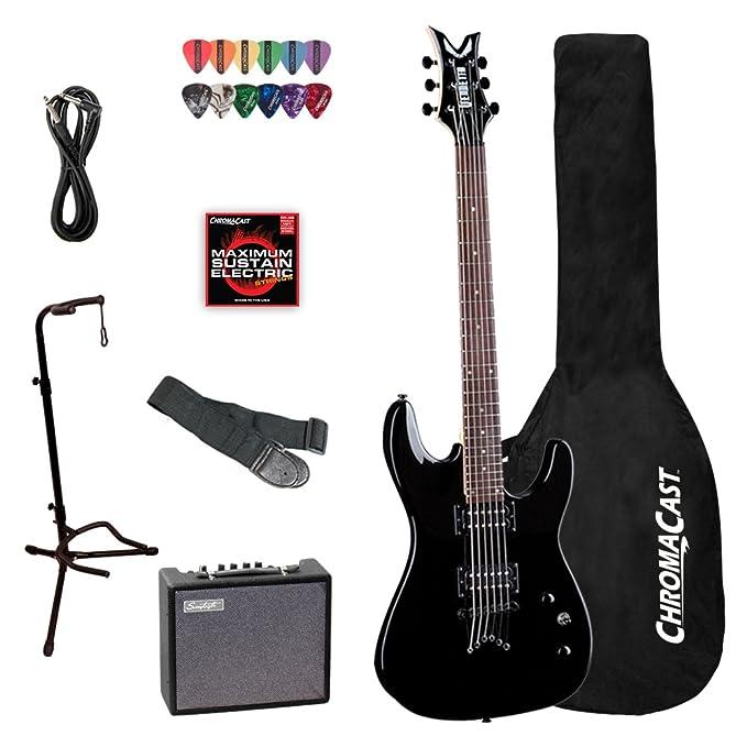 Dean Guitars Vendetta Classic negro (vnxm-cbk) guitarra eléctrica con ChromaCast accesorios: Amazon.es: Instrumentos musicales