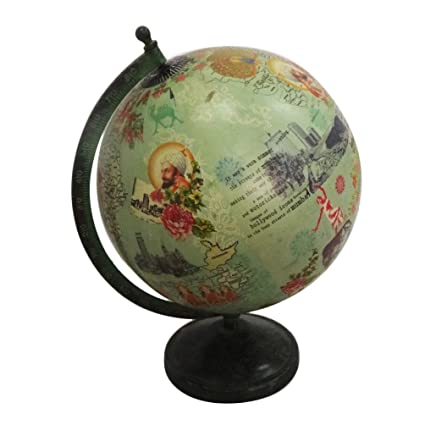 Buy indian globe gift home decor table top decorative purpose world indian globe gift home decor table top decorative purpose world map 12quot tall iron stand gumiabroncs Gallery