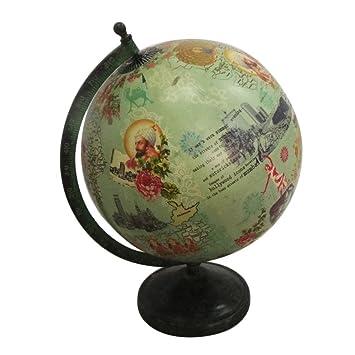 Indian Globus Geschenk Mit Nach Hause Dekor Tischplatte Dekorativen Zweck Weltkarte 12 Quothoch Eisen