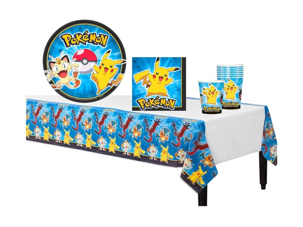 Party With Pokemon And Pikachu! Party Set Includes Table Cover Plates Napkins.. 10