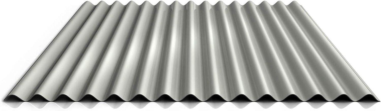 Profil PS18//1064CW Wandblech Wellblech Profilblech Farbe Wei/ßaluminium Beschichtung 25 /µm St/ärke 0,75 mm Material Stahl