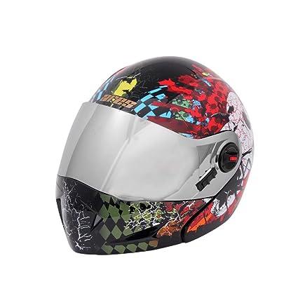 08abc223 Steelbird A1 Ares Skull Flip-Up Helmet (Multicolor, L): Amazon.in ...