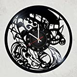 STUDIO GHIBLI VINYL WALL CLOCK - Cute gift for girl or fan anime - Best Japanese animation film GHIBLI STUDIO - merchandise gifts for kids bedroom decoration Totoro