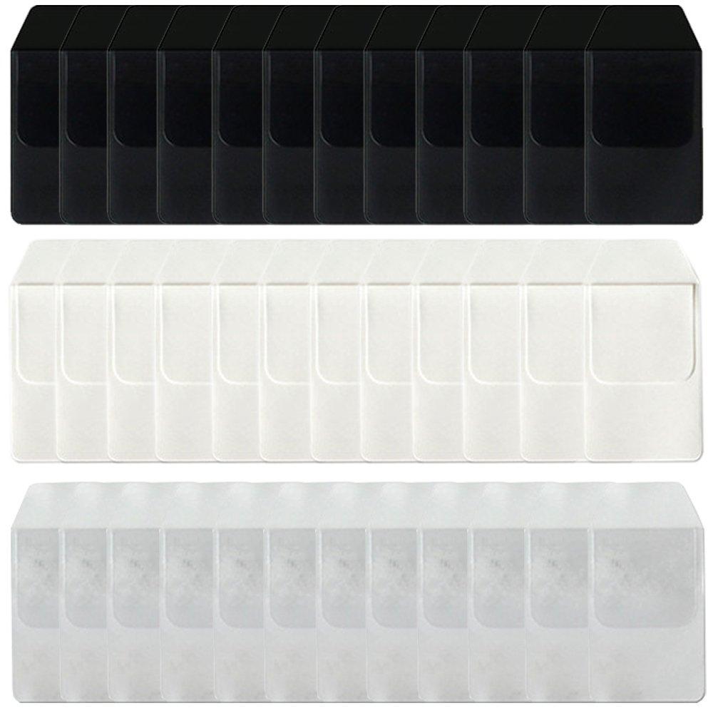 Heatleper 36Pcs Pocket Protectors for Pen Leaks Hospital School Office Supplies(Black, White, Transparent 12 each)