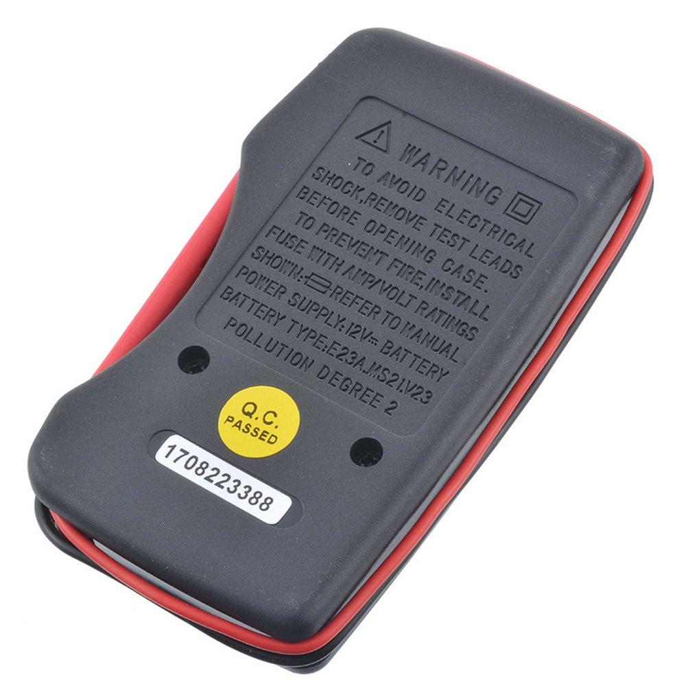 Godagoda Multim/ètre Num/érique Portable Mini Ultramicro Poche Digital D/étection de Capacit/é de Batterie Outils de Quincaillerie Bricolage