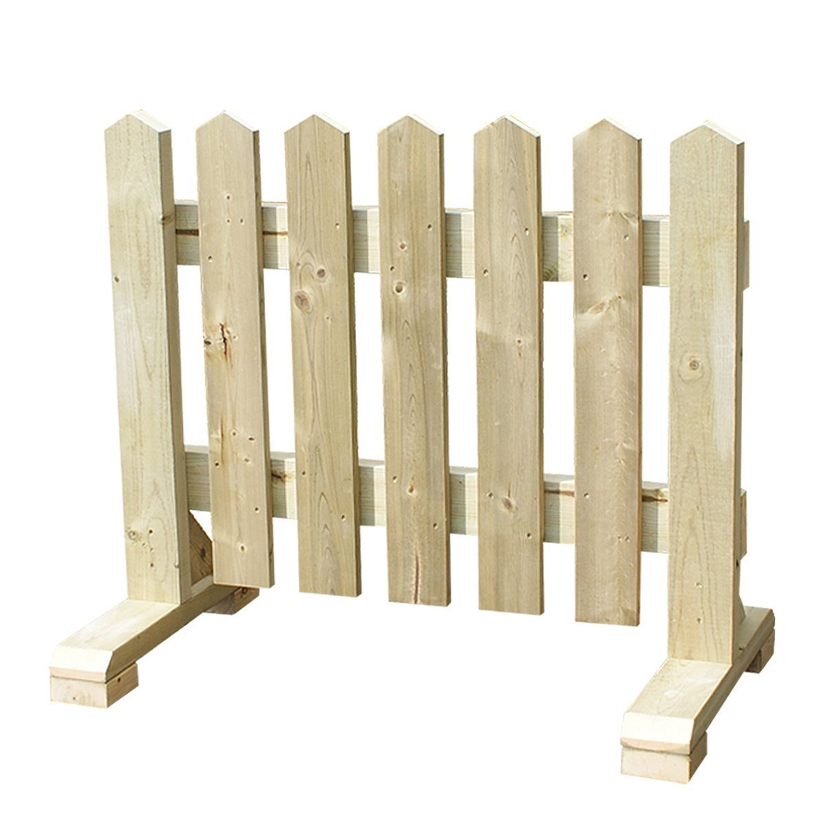 【ワケアリ品】木製 ピケットフェンス -ナチュラル- (幅150cm) B07DJ9X1JR 10900 幅150cm  幅150cm