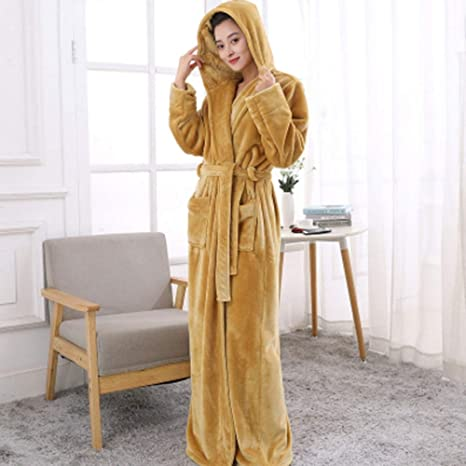 Albornoz Nan Liang Pijamas para Hombres/Mujeres, Pijamas de Invierno, Batas de baño