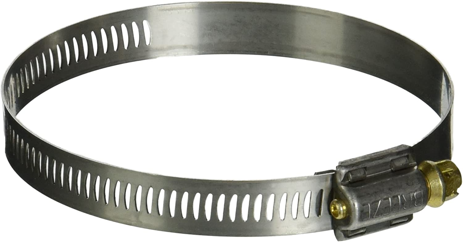 Worm-Drive Pack of 10 1//2 Bandwidth SAE Size 44 Breeze Power-Seal Stainless Steel Hose Clamp 2-5//16 to 3-1//4 Diameter Range