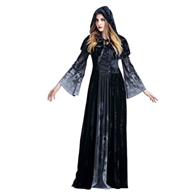 Damen Hexe Vampir Kostum Fur Party Halloween Fasching Verkleidung