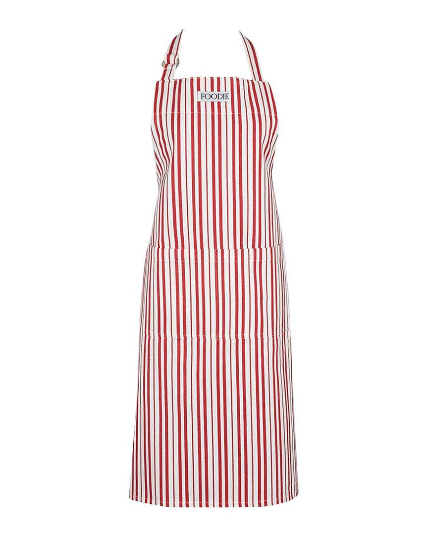 DII Sun Dried Tomato Herringbone Stripe Apron Multi