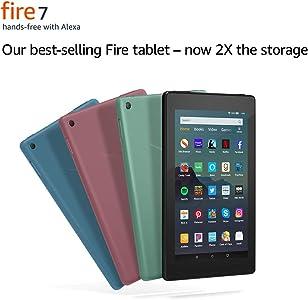 "Fire 7 Tablet (7"" display, 16 GB) - Black"