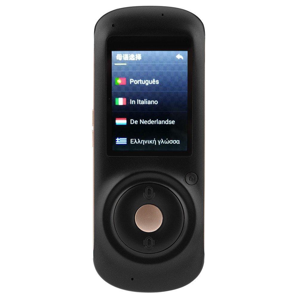 Eboxer Traduttore di lingua Smart Wifi, traduttore touchscreen da 2,4 pollici 35 lingue Traduttore di voce stereo istantaneo 4G istantaneo da 4G per riunione aziendale