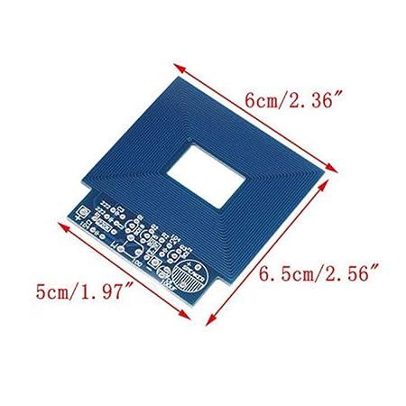 Detector de metales simple Localizador de metales Producción electrónica DC 3V - 5V DIY Kit Materiales respetuosos con el medio ambiente - Azul: Amazon.es: ...