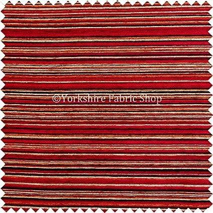 Yorkshire Fabric Shop Rojo lápiz patrón de Rayas Suave ...