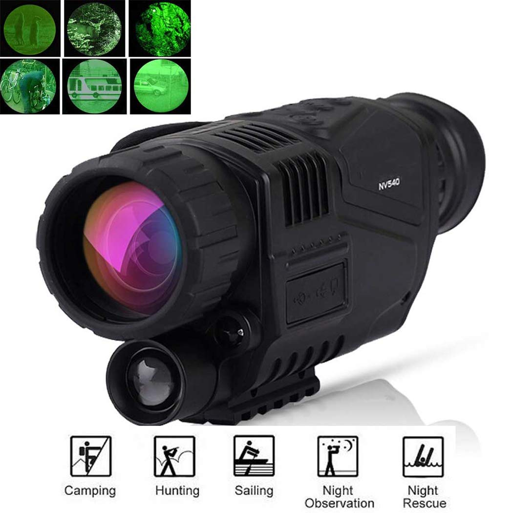 HAO New 200MM Monocular Hunting Night Vision Infrared Digital Scope Telescope Long Range Built-in Camera Shoot Photo Recording Video by HAO