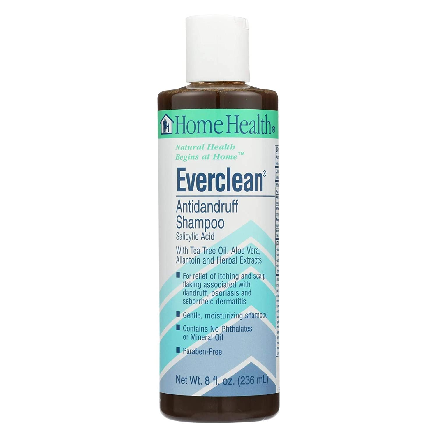 Home Health Everclean Anti Dandruff Shampoo Unscented - 1.8% Salicylic Acid, 8 fl oz - Relieves Itching & Scalp-Flaking, Gentle & Moisturizing For Fresh, Healthy Hair - Paraben-Free, Vegan