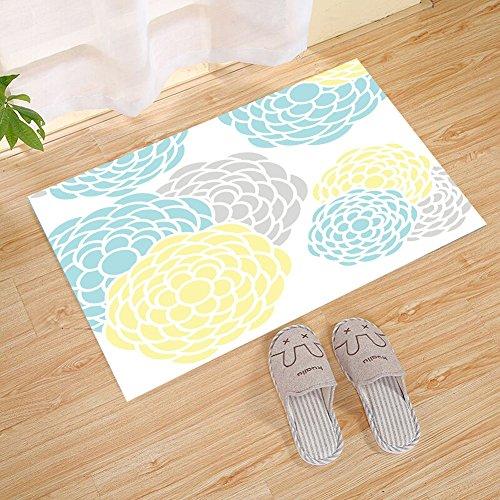 Cross Yellow Pattern (JANNINSE Blue And Yellow Dahlia Pinnata Flower Pattern Doormat,Heavy Duty Large Doormat For Indoor Outdoor, Waterproof, Easy Clean, 23.6 X 15.7 Inches)
