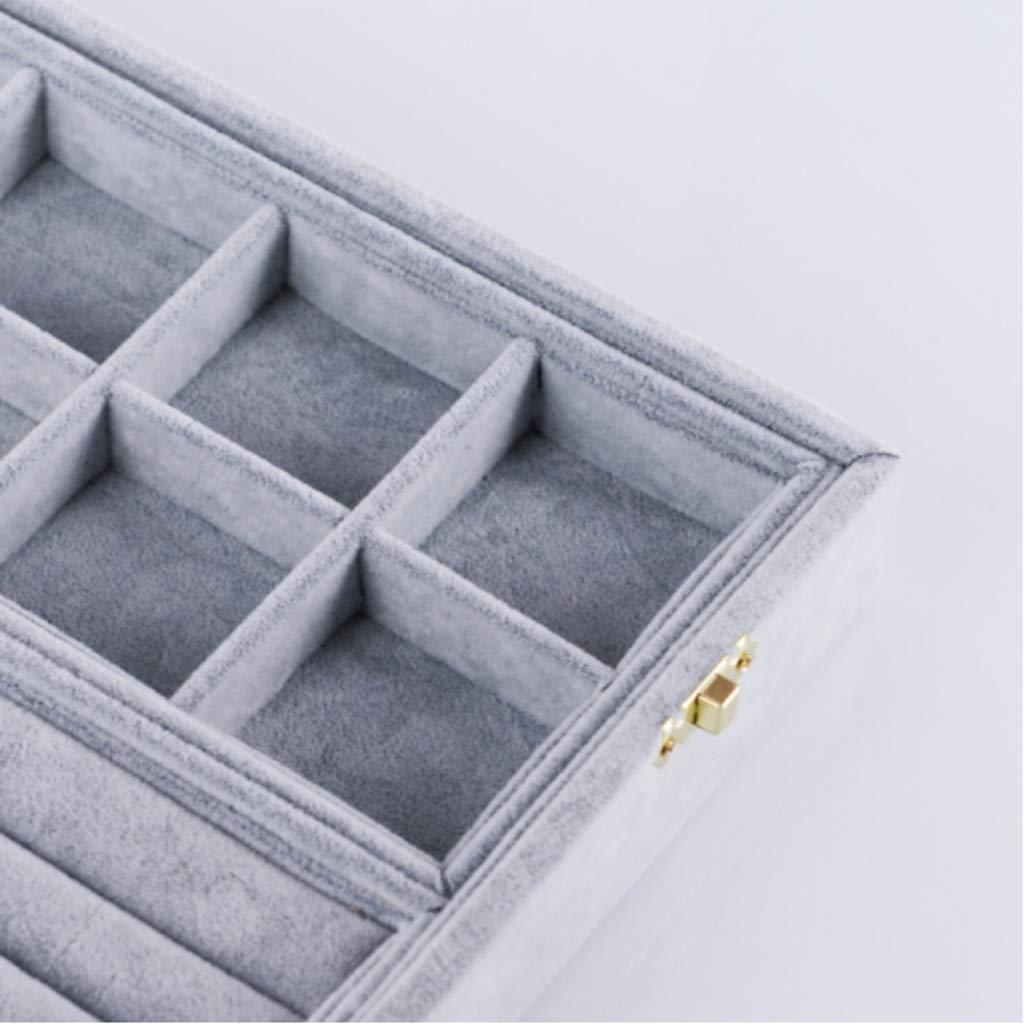 ZHZ-Caja de almacenamiento de joyas joyas joyas Stud Pendientes Joyero Princesa Europea Pendientes Mango Almacenamiento Joyería Caja de Almacenamiento Caja de múltiples Funciones Bolso de Almacenamiento de Joyas 068a05