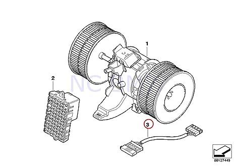 amazon com bmw genuine fan wiring harness automotive Blower Engine Diagram