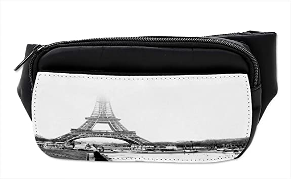 Paris Eiffel Tower Sport Waist Pack Fanny Pack Adjustable For Travel