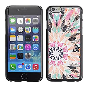 Soft Silicone Rubber Case Hard Cover Protective Accessory Compatible with Apple iPhone? 6 (4.7 Inch) - flower drawing abstract pastel