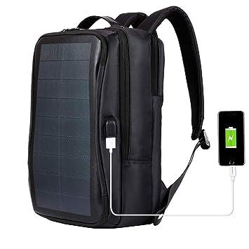 AZCX Mochila Solar 14W Mochila de Negocios de Viaje con ...