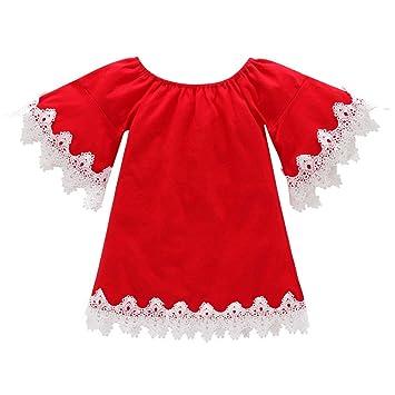 743ff19e3 Amazon.com   Toddler Kid Baby Girl Christmas Cotton Long Sleeve ...