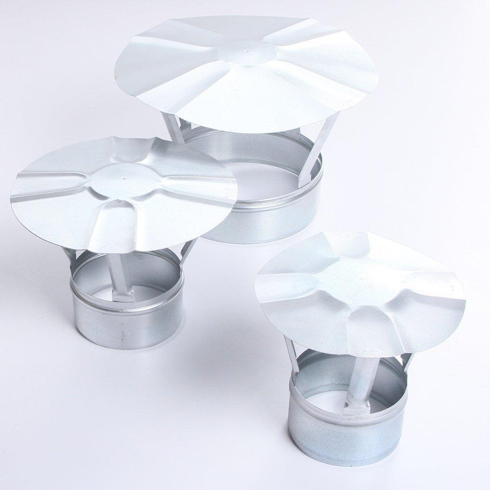 Regenhaube Regenhut Schornsteinabdeckung Einsteck für Ofenrohre Kamin verzinkt 7 Größen (Ø 110)